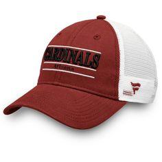 6879a8839 Men s Arizona Cardinals NFL Pro Line by Fanatics Branded Cardinal White  Primary Bar Trucker