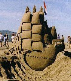 Beautiful detailed sand sculpture