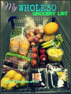 Everything you need to start a Whole 30! 30 days of clean eating!