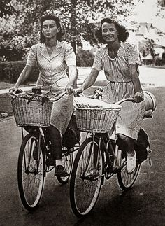 Two Young Girls Bicycling Across America in 1944