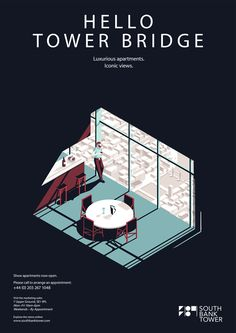 illustrated posters for the South Bank Hotel in London.