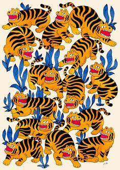 Illustrations, Art And Illustration, Graphic Design Illustration, Tiger Art, Tiger Tiger, Graffiti, Pop Art Wallpaper, Art Inspo, Vector Art
