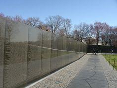 Vietnam Memorial, Washington, D.C. Designed by Maya Lin.