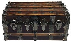 One Kings Lane - Summer Voyager - Antique American   Steamer Trunk