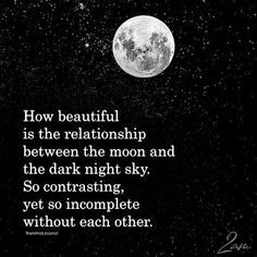 How Beautiful Is The Relationship Between The Moon And The Dark Night Sky – Quotes – dark Dark Night Quotes, Dark Quotes, Night Quotes Thoughts, Dark Thoughts, Dark Memes, Moon And Star Quotes, Moon Quotes, How Beautiful, Beautiful Words