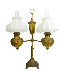 Lamp, student lamp, 19th Century