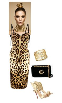 """Untitled #1159"" by bsimon-1 ❤ liked on Polyvore featuring Dolce&Gabbana, Christian Louboutin and Gucci"