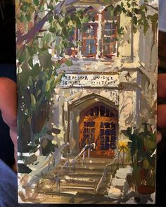 #sammichlap #urbanmichlap #pasadena #painting #pleinair #sketching #instaart #arte #color #gouache #gouachepainting Pasadena has such great Facades that really come alive when light falls across them. The scale revealed by those deep massive shadows is a great compositional device!