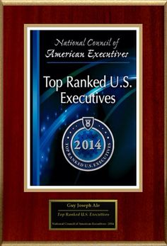 Guy's recognition as a 2014 Top U.S. Executive by the National Council of American Executives.
