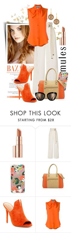 """""""Beauty Mules"""" by ela79 ❤ liked on Polyvore featuring Estée Lauder, Marni, Rifle Paper Co, Halston Heritage, Moschino and Roberto Coin"""
