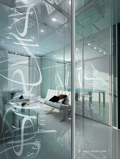 Calligraphy in architectural glass by Denis Brown