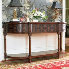 Living Room Accents Demilune Console by Hooker Furniture