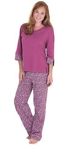 PajamaGram Women s Raspberry Leopard Print Pajamas Purple Large 1214 >>> You can get more details by clicking on the image. Pajamas For Teens, Pajamas Women, Cozy Pajamas, Pjs, Satin Pyjama Set, Pajama Set, Tartan Pants, Womens Pyjama Sets, Sleepwear Women