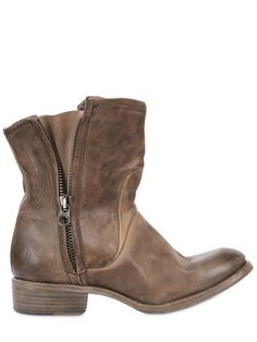 From Nylo, vintage calfskin side zip boots