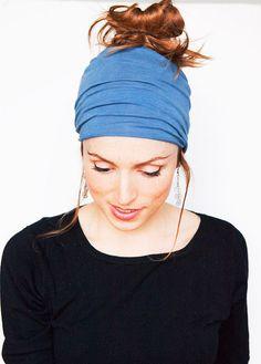 Dusty Blue Wide Headband  by MinitaStudio, $12.00 #yoga #boho #stocking #stuffer #christmas #gift #for #her #blue #headband