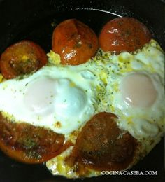 Huevos a la provenzal. Receta de cocina sencilla | Recetas de Cocina Casera | Recetas fáciles y sencillas