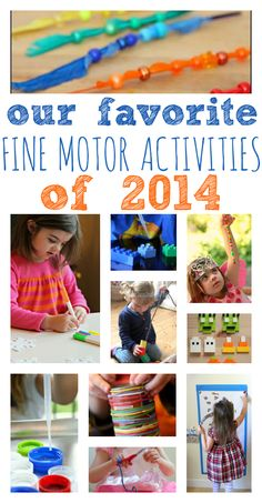 Fine motor skills - this is a great list of ideas for preschool.