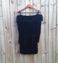 S Small Vintage 80s 90s Off the Shoulder by PinkCheetahVintage