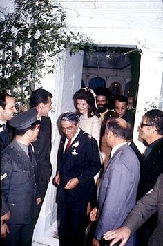 Wedding of Jackie Kennedy and Aristotle Onassis, on the Greek island of Skorpios~ October 20, 1968
