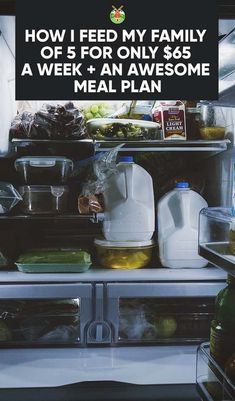 Healthy Cheap Meal Plan I Use to Feed My Family of 5 for Family Meal Planning, Budget Meal Planning, Healthy Family Meal Plans, Weekly Meal Plan Family, Cheap Healthy Family Meals, Cooking For A Crowd, Cooking On A Budget, Food Budget, Easy Cooking