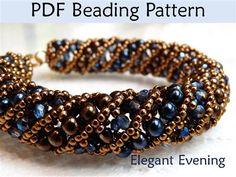 Netted Stitch Tubular Spiral Beading Pattern - Jewelry Making Daily