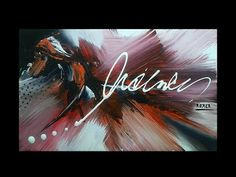 Abstract Art Demonstration - acrylic painting | Smile | John Beckley - YouTube