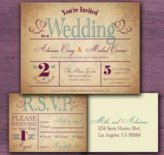 Our wedding invitation!