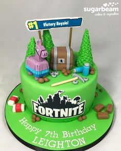 These Epic Fortnite Party Ideas will have any gamer ready to party. Get creative ideas for Fortnite party decorations, food, 10 Birthday Cake, 10th Birthday Parties, Birthday Gifts For Boys, Birthday Ideas, Cupcakes, Cupcake Cakes, Xbox Cake, Party Cakes, Ideas Party