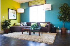 salas con decoracion turquesa y marro n - Buscar con Google