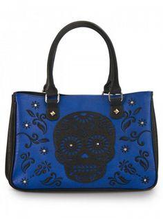 """Laser Cut Skull"" Tote by Loungefly (Black) | Inked Shop #inked #inkedshop #inkedmagazine #purse #bag #wallet"