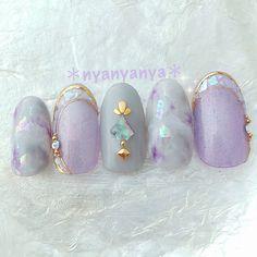...|ネイルデザインを探すならネイル数No.1のネイルブック Asian Nail Art, Asian Nails, Japanese Nail Design, Japanese Nail Art, Cinderella Nails, Lilac Nails, Cute Nail Art Designs, Kawaii Nails, Nail Tattoo