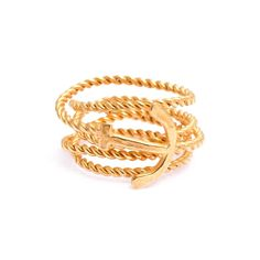 Twisted anchor wrap ring | Daisy Knights