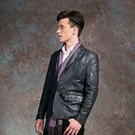 Cour Carré Product: Leather Jacket | Shirt | Scarf | Pants | Shoes -