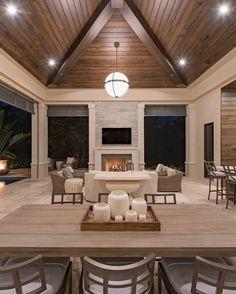 Modern home design – Home Decor Interior Designs Outdoor Living Rooms, Living Spaces, Modern Outdoor Living, Style At Home, Interior Design Trends, Pavillion, Adirondack Furniture, Outdoor Furniture, Farmhouse Furniture
