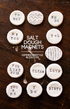 Salt Dough Magnets | Gimme Some Style - Gonna try this when I do get an OVEN...