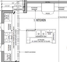 Small Kitchen With Island Floor Plan sample kitchen elevations | shop drawings | pinterest | kitchens