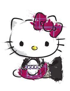 Goth' Hello Kitty Splatter by EdwardKillum on DeviantArt