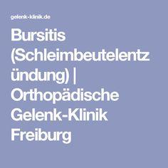 Bursitis (Schleimbeutelentzündung) | Orthopädische Gelenk-Klinik Freiburg