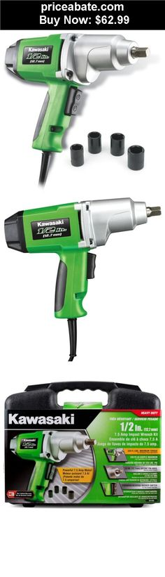 """Tools: Kawasaki 1/2"""" 7.5 amp Heavy Duty Electric Impact Wrench Kit - 841426 - BUY IT NOW ONLY $62.99"""