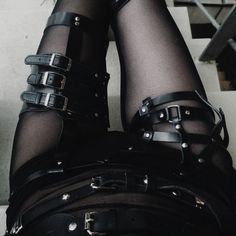 cyber / sci fi / urban goth / dystopia inspiration / garters / buckles / belts / leather / post apocalyptic for women