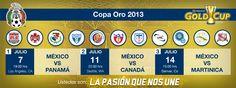 Calendario Oficial de la #PasionQueNosUne en la Copa Oro 2013  #sports #soccer #futbol #seleccionmexicana #mexico