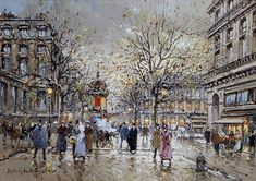 Antoine Blanchard  (1910 - 1988)  Place du Palais Royal