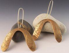 Boomerang Bronze Earrings by DIANE KULIGOWSKI.  Love her work!