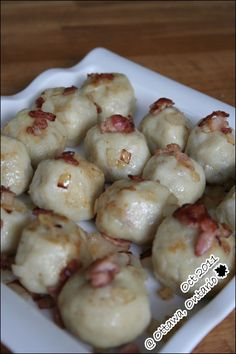 A polish friend of mine brought this potato dumplings to a farewell potluck prepared by a group of friends. Lithuanian Recipes, Slovak Recipes, Ukrainian Recipes, Czech Recipes, Hungarian Recipes, Russian Recipes, Russian Foods, Hungarian Food, Ethnic Recipes