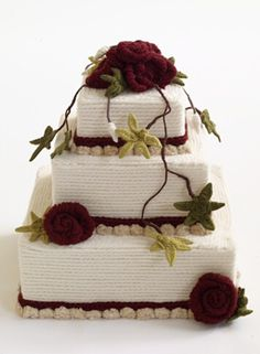 #Knit Red Velvet Ribbon Cake; a cool idea for a party, or booth exhibit (especially wedding shows)