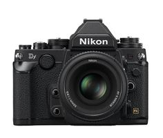 Nikon Df.  Boasting a retro-styled body and the same 16.2-megapixel FX-format sensor as Nikon's flagship D4, this camera expresses a passion for photography in both form and function..