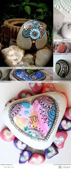 Crafty Craft_Crafts stones for Nova x Pebble Painting, Pebble Art, Stone Painting, Rock Painting, Rock Crafts, Fun Crafts, Arts And Crafts, Polka Dot Art, Painted Rocks
