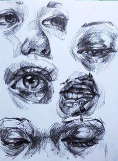 Trendy eye drawing pencil close up Ideas Pencil Art Drawings, Cool Art Drawings, Art Drawings Sketches, Drawing Ideas, Dark Art Illustrations, Detailed Drawings, Drawing Tutorials, Drawing Tips, Pretty Art