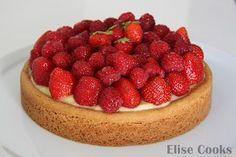 Tarte aux fraises et au citron sur sablé breton la pâte est divine!!
