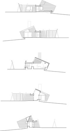 Agosta House, Sections– © Patkau Architects